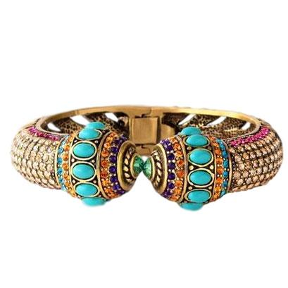 """Noble Bling of the Jungle"" Crystal Cuff Bracelet - Heidi Daus®"