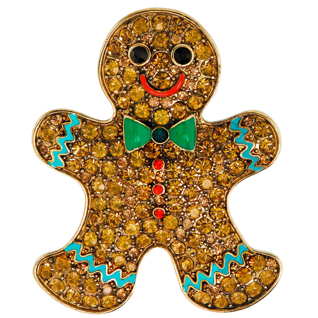 "HEIDI DAUS®""Gingerly Gorgeous"" Gingerbread Man Pin - Heidi Daus®"