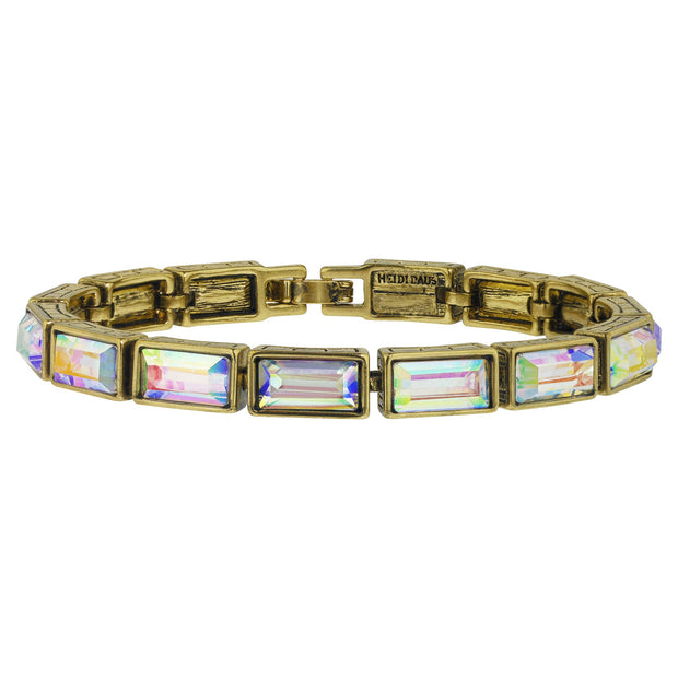 "HEIDI DAUS®""On Line"" Baguette Cut Crystal Layout Bracelet - Heidi Daus®"