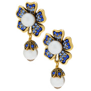 """Dazzling Dogwood"" Beaded Crystal Earring - Heidi Daus®"