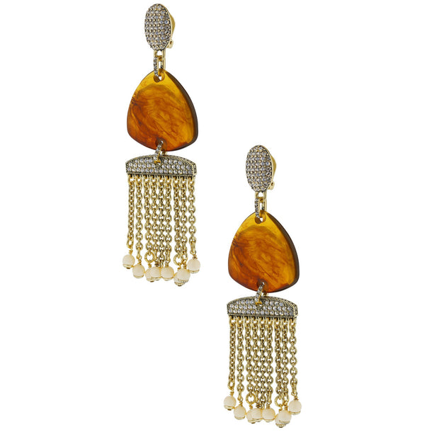 "HEIDI DAUS® ""Wedge Link"" Crystal Resin Dangle Earrings - Heidi Daus®"