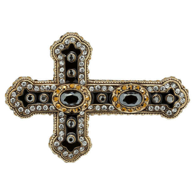 "HEIDI DAUS®""Pure Heaven"" Enamel Crystal Cross Double Ring - Heidi Daus®"