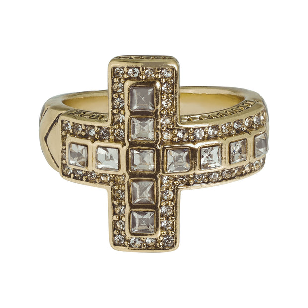 "HEIDI DAUS®""Sheer Heaven"" Crystal Cross Ring - Heidi Daus®"