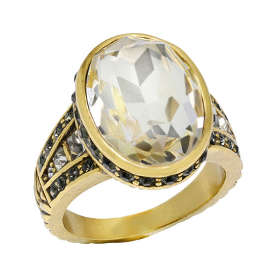 """Super Chic"" Crystal Ring"