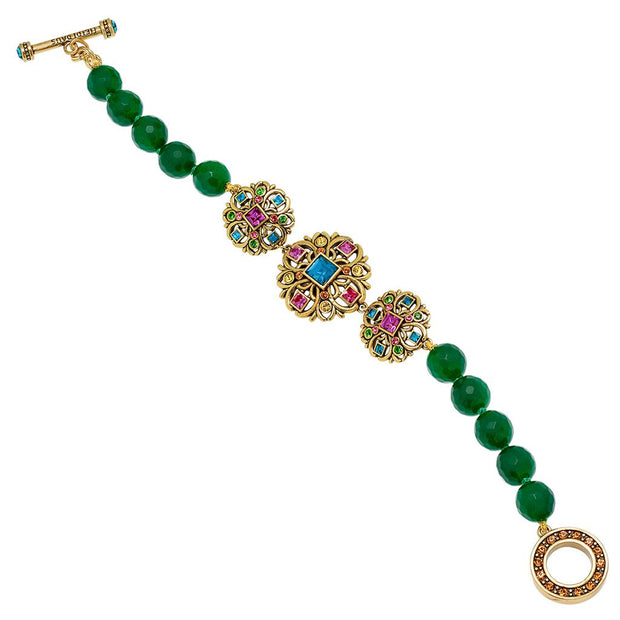 """Crown Collection"" Crystal Beaded Toggle Bracelet - Heidi Daus®"