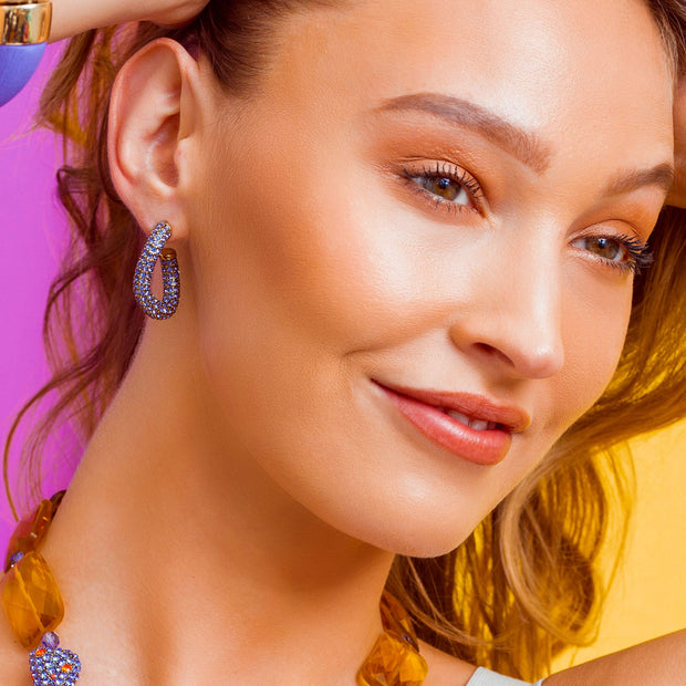 "HEIDI DAUS® ""Lovely Links"" Crystal Hoop Earrings - Heidi Daus®"