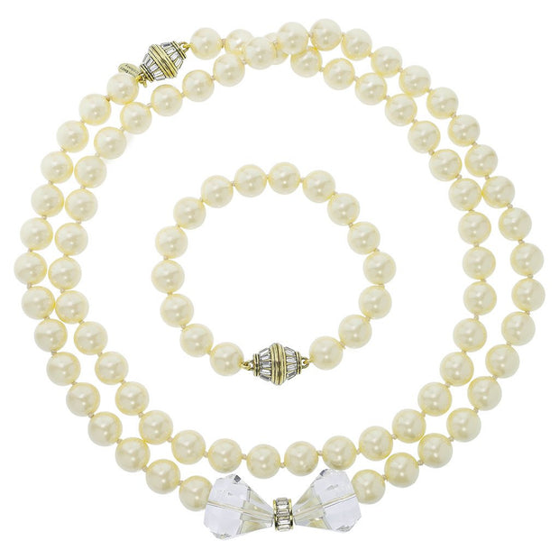 "HEIDI DAUS®""Ladies First"" Beaded Crystal Snap Apart Necklace & Bracelet Set - Heidi Daus®"