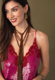 """Sparkling Scarf"" Crystal Beaded Lariat Necklace - Heidi Daus®"