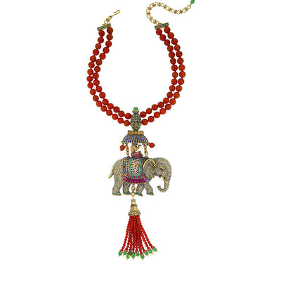 "HEIDI DAUS®""Sultans of Chic"" Beaded Crystal Elephant Necklace - Heidi Daus®"