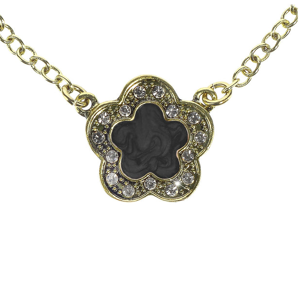 """Easy Does It"" Enamel & Crystal Pendant Necklace - Heidi Daus®"