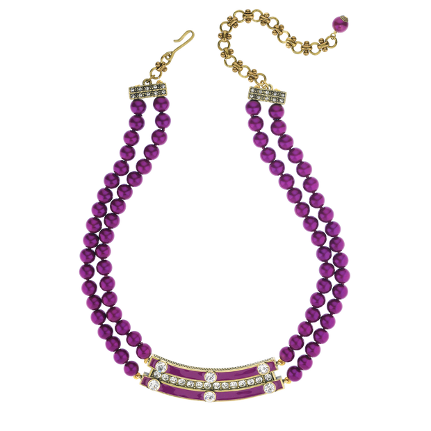 "HEIDI DAUS® ""Stackable Style"" Enamel & Crystal Necklace - Heidi Daus®"