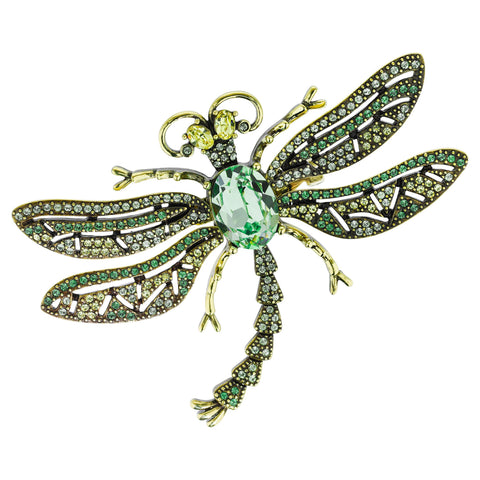 """Trembling Brilliance"" Crystal Dragonfly Pin"