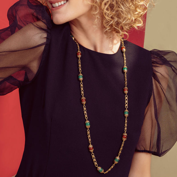 """Thoughtful Treasure"" Beaded & Crystal Toggle Necklace - Heidi Daus®"