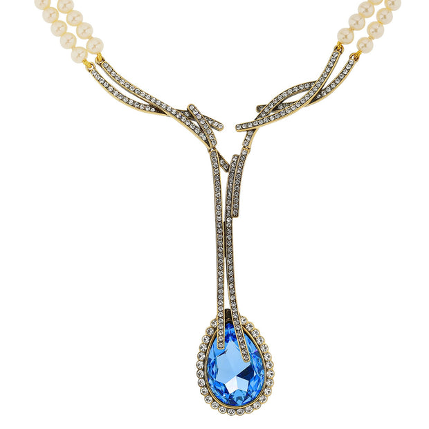 "HEIDI DAUS® ""Runway Chic"" Beaded Crystal Drop Necklace - Heidi Daus®"