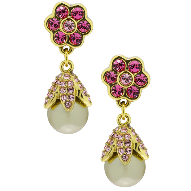 """Itsy Bitsy Sparkler"" Crystal Floral Drop Earrings - Heidi Daus®"