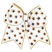 "HEIDI DAUS®""Star Spangled Spirit"" Crystal and Enamel Bow Pin - Heidi Daus®"