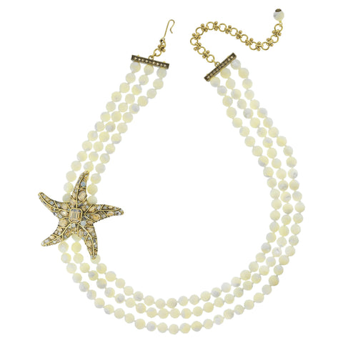 """Star Worthy"" Beaded Starfish Collar Necklace"