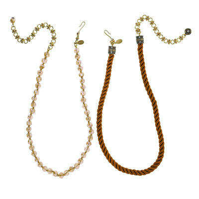 "HEIDI DAUS® ""Elegant Essential"" Pin Enhancer Bead & Cord Necklace Set - Heidi Daus®"