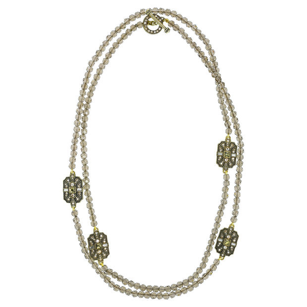 "HEIDI DAUS® ""Deco Trilogy"" Crystal Beaded Toggle Necklace - Heidi Daus®"