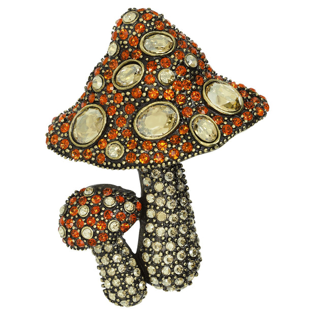 """Heidi's Baby Bella"" Crystal Mushrooms Pin - Heidi Daus®"