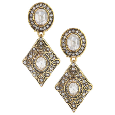 "HEIDI DAUS®""Deco Trilogy"" Crystal Drop Earrings - Heidi Daus®"
