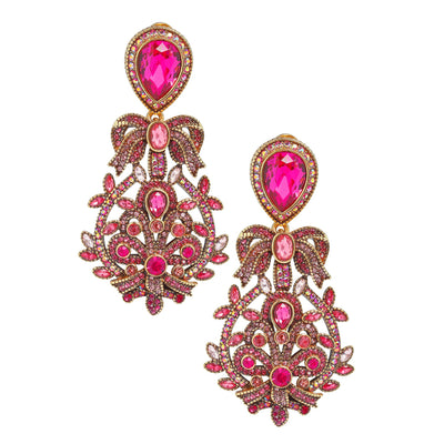 "HEIDI DAUS® ""Filigree Fan"" Crystal Drop Earrings - Heidi Daus®"
