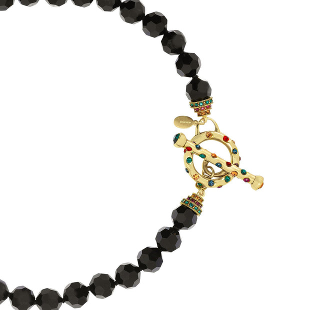 "HEIDI DAUS® ""Chain Reaction"" Beaded Crystal Short Toggle Necklace - Heidi Daus®"