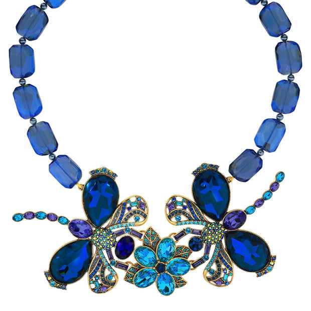 """Dazzling Damoiselle"" Crystal Dragonfly Necklace - Heidi Daus®"