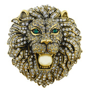 """Call Of The Wild ""Crystal Lion Pin - Heidi Daus®"