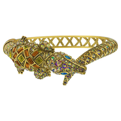 """Alligator Garden"" Crystal Bangle Bracelet - Heidi Daus®"