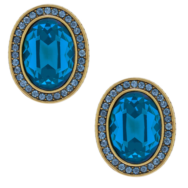 """Jeweled Extraordinaire"" Crystal Button Earrings - Heidi Daus®"