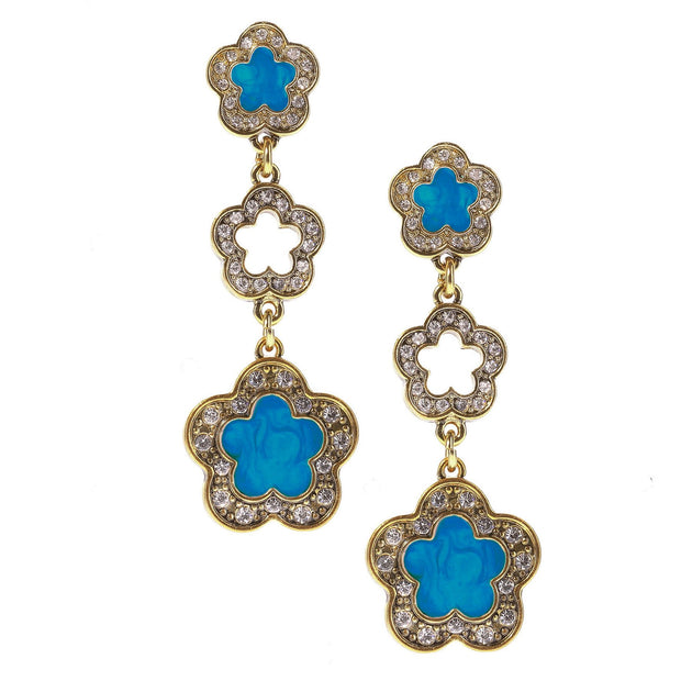 "HEIDI DAUS® ""Easy Does It"" Enamel & Crystal Dangle Earrings - Heidi Daus®"