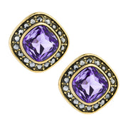"""Etoile Elegance"" Swarovski Button Earrings - Heidi Daus®"
