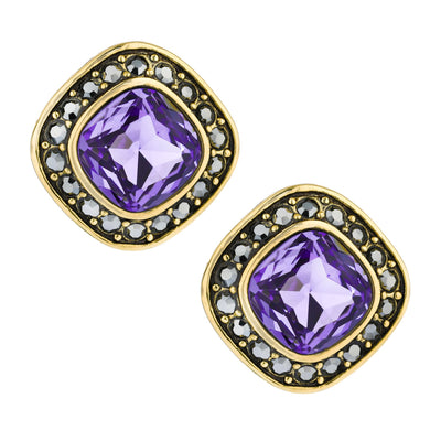 """Etoile Elegance"" Swarovski Button Earrings"