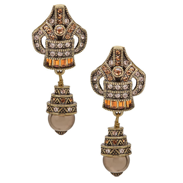 "HEIDI DAUS® ""Deco Master Clasp"" Crystal Drop Earrings - Heidi Daus®"