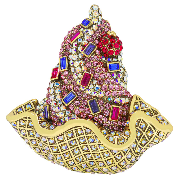 "HEIDI DAUS® ""Sundae Funday"" Swarovski Crystal Ice Cream Pin - Heidi Daus®"