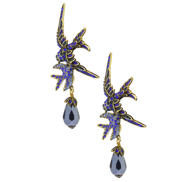"HEIDI DAUS®""Delicate Departure"" Crystal Beaded Bird Earrings - Heidi Daus®"