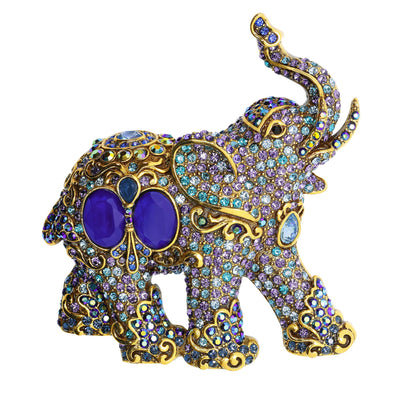 """Royal Elephant"" Crystal Elephant Pin"
