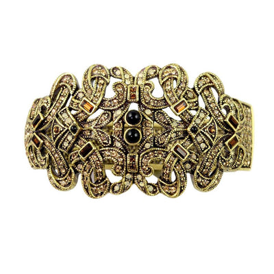 """Enchanting Glamour"" Swarovski Baroque Bangle Bracelet - Heidi Daus®"