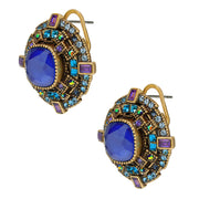 """The Regent"" Crystal Button Earrings - Heidi Daus®"
