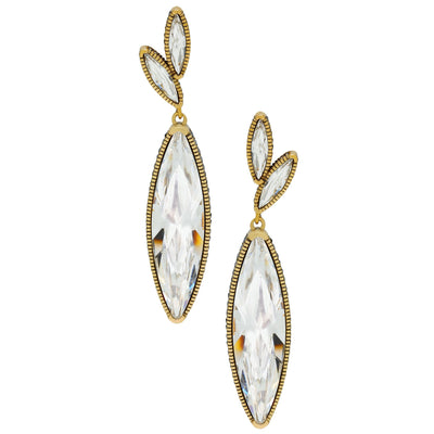 """Fabulous Feng Shui"" Oversized Crystal Drop Earrings"