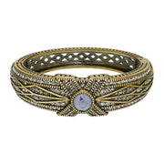 "HEIDI DAUS® ""Tapered X"" Crystal Stackable Bangle Bracelet - Heidi Daus®"