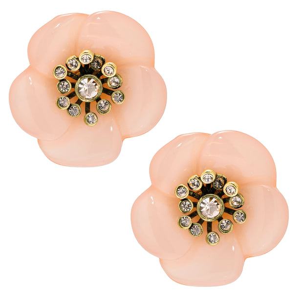 """Cherries Jubilee"" Crystal Floral Button Earrings - Heidi Daus®"