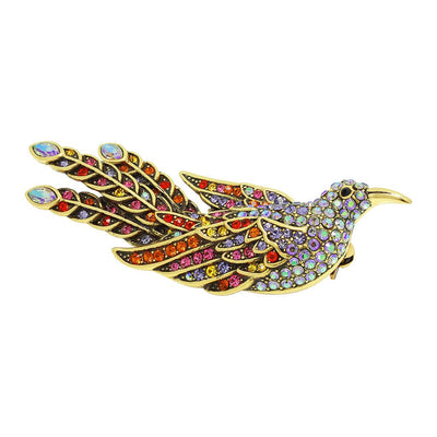 """A Little Bird Told Me"" Crystal Bird Pin - Heidi Daus®"