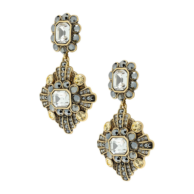 """Enchante"" Crystal Pendant Earrings"