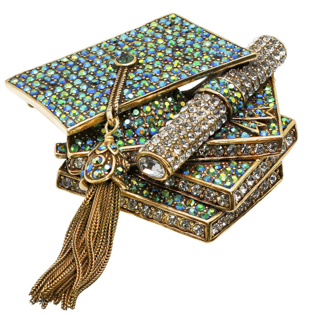 """Sophisticated Scholar"" Crystal Graduation Pin"