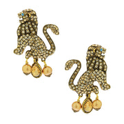 """Lion Royalty"" Pearl & Crystal Lion Earrings - Heidi Daus®"