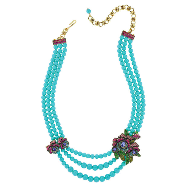 """Elysees"" Crystal Beaded Necklace - Heidi Daus®"