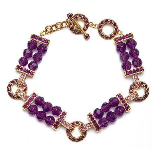 """Easy Being Chic"" Swarovski Link Bracelet - Heidi Daus®"