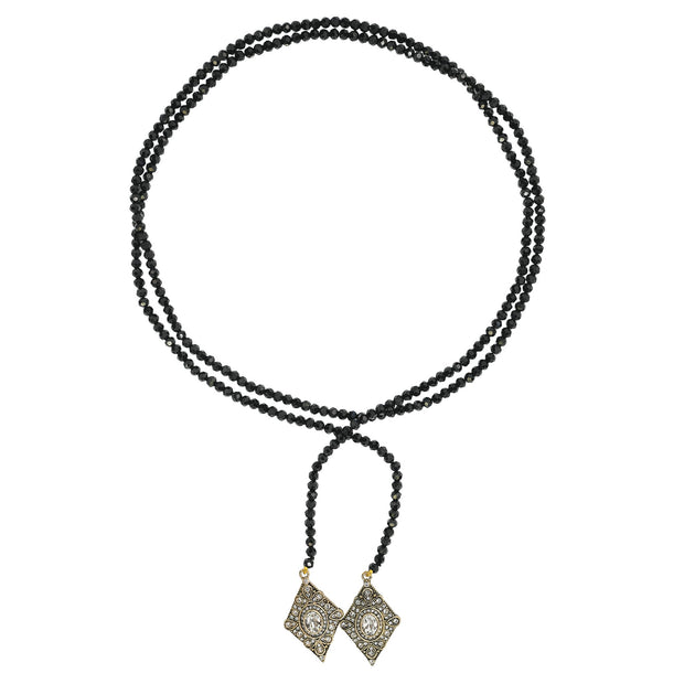 "HEIDI DAUS® ""Deco Trilogy"" Beaded Crystal Lariat Necklace - Heidi Daus®"